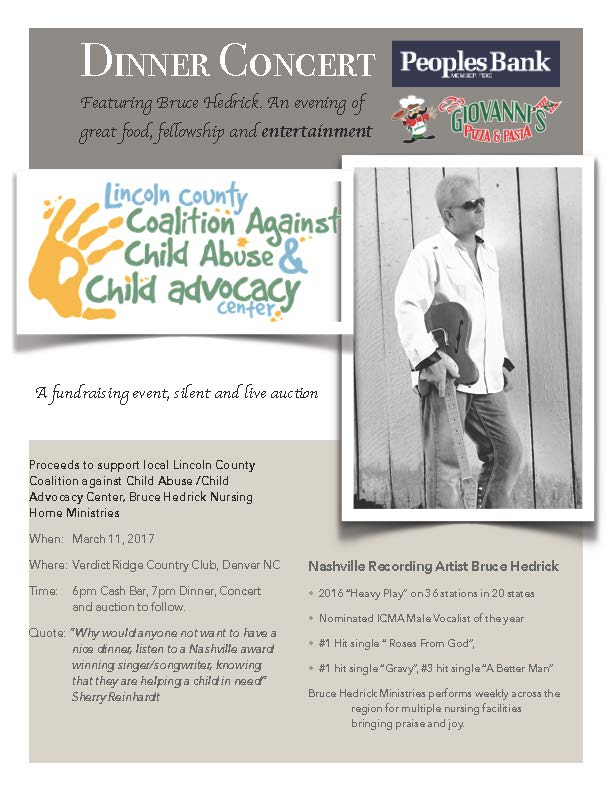 Lincoln County Coalition Against Child Abuse & Child Advocacy Center Dinner Event